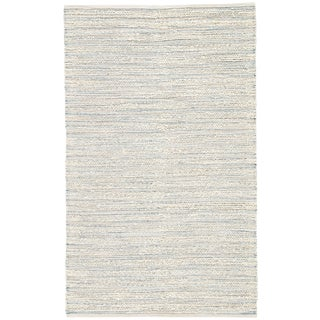 Jaipur Living Canterbury Natural Stripe White/ Blue Area Rug - 5′ × 8′ For Sale