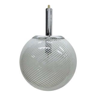 1965 Italian Space Age Venini Glass and Chrome Pendant For Sale