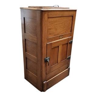Leonard's Polar King Ice Box Cocktail Cabinet / Mini Bar Cabinet C.1890s For Sale