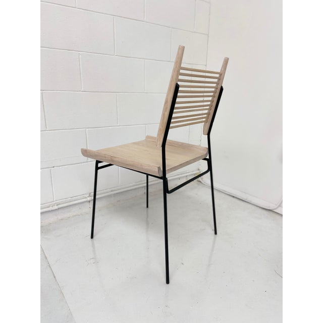 Not Yet Made - Made To Order Paul McCobb Style Oak and Iron Chairs- Set of 4 For Sale - Image 5 of 13