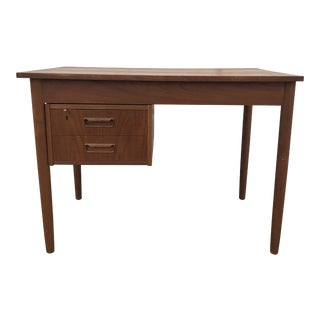 1970s Danish Modern Teak Writing Desk For Sale