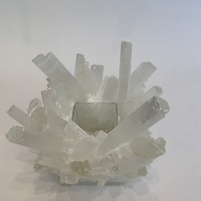 2020s Selenite Kathryn McCoy Votive (M) For Sale - Image 5 of 10