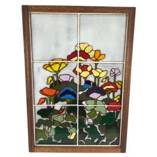 20th Century Art Nouveau Tile Artwork in Wood Frame by Roberta Goodman For Sale