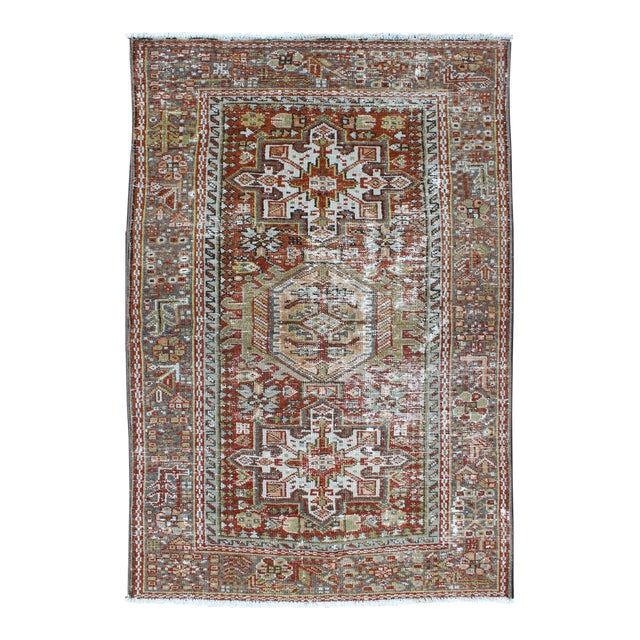 1930s Semi Antique Karadjeh Rug - 2′11″ × 4′5″ For Sale
