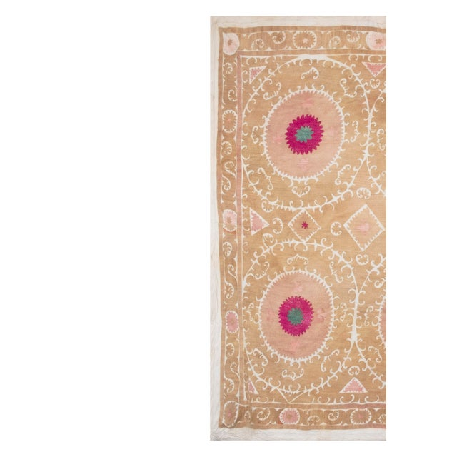 """Textile Tribal Embroidery Wall Decor, Suzani Bedspread 8'2"""" X 11'6"""" For Sale - Image 7 of 13"""