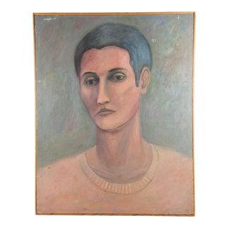 Modernist Portrait Oil Painting on Canvas