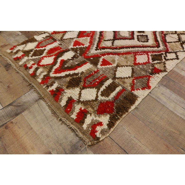Red Moroccan Berber Azilal Rug With Tribal Style - 3′ × 6′7″ For Sale - Image 8 of 9