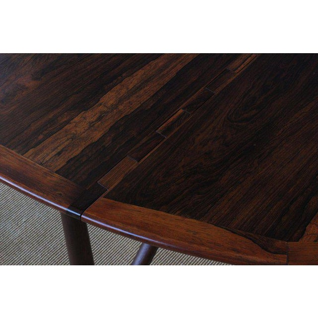 Brown Mid Century Niels Koefoed Rosewood Gate Leg Dining Table, Denmark, 1960s For Sale - Image 8 of 12