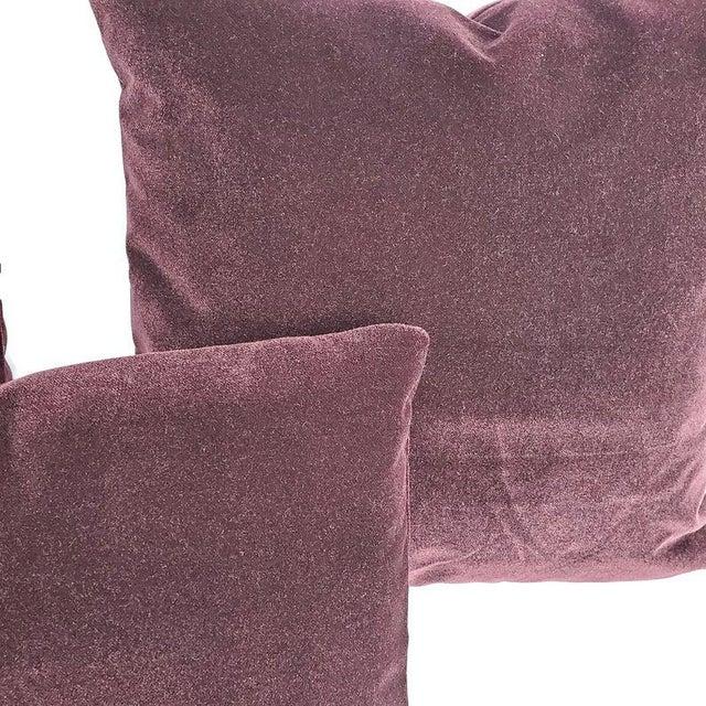 "2010s Pollack Sedan Plush in Imperial Purple Pillow Cover - 12.5"" X 20"" Dark Purple Velvet Cushion Case For Sale - Image 5 of 6"