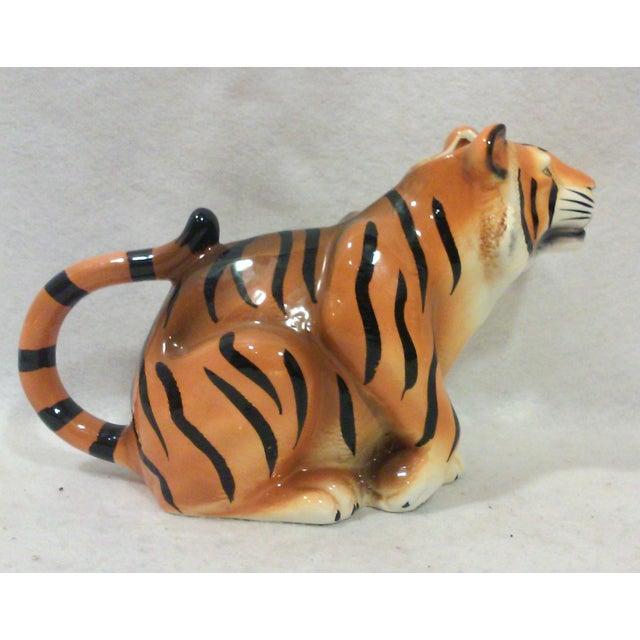 Ceramic Tiger Pitcher For Sale - Image 4 of 8