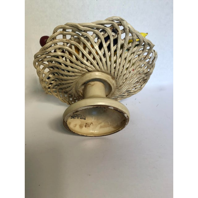 1980s Traditional Italian Porcelain Fruit Topiary/Basket For Sale - Image 10 of 11