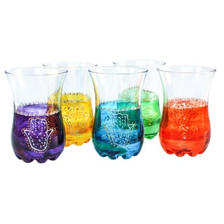 Colorful Moroccan Tea Glasses - Set of 5 For Sale