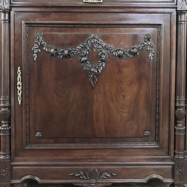 19th Century French Walnut Louis XVI Marble Top Buffet For Sale - Image 9 of 13