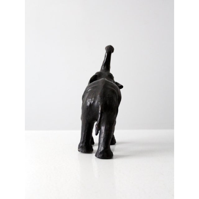 Boho Chic Vintage Leather Elephant Figure For Sale - Image 3 of 10