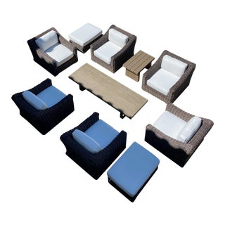 Restoration Hardware Outdoor Furniture Set-10 Pieces For Sale