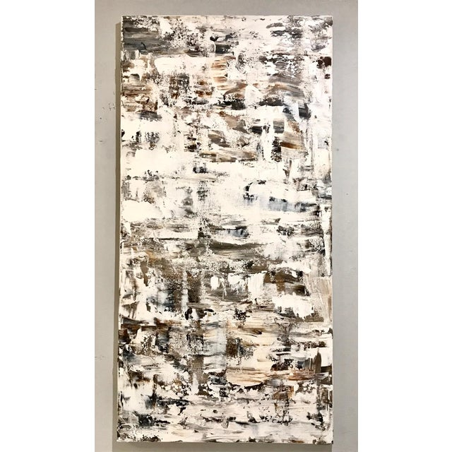 """Leila Pinto, """"Triptych Taupe Abstract"""" Acrylic On Canvas For Sale - Image 4 of 6"""