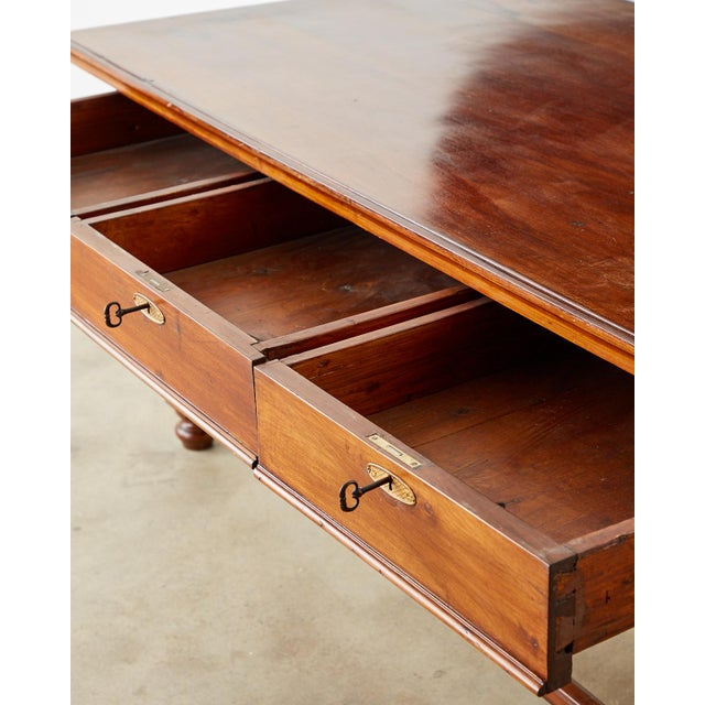 Country English Farmhouse Library Table or Work Table For Sale - Image 9 of 13