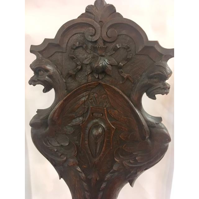 Irish Carved Hall Chair - Image 3 of 6