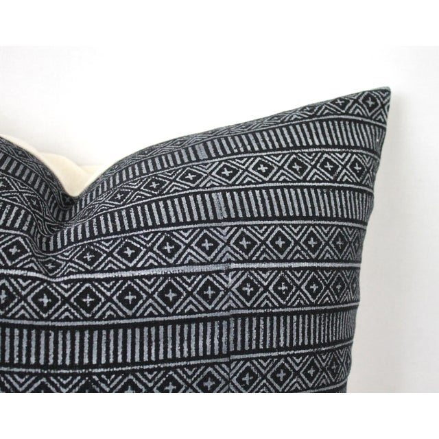 Contemporary Vintage Geometric Patterned Pillow For Sale - Image 3 of 12