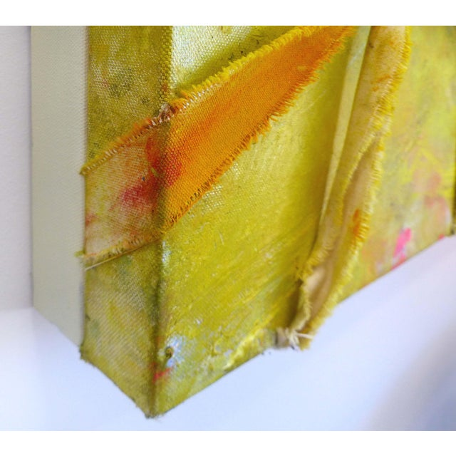 """Alfredo Ulloa """"Pierre (Yellow #1)"""" Abstract Painting - Image 6 of 8"""
