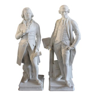Porcelain Figures of Composers - a Pair For Sale