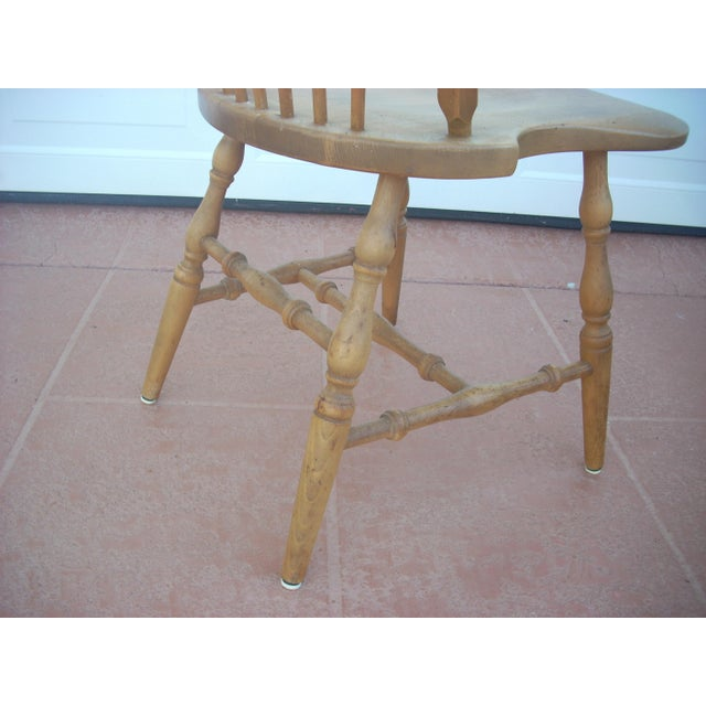 Windsor Maple Dining Chairs - Set of 4 Side Chairs - Image 5 of 5