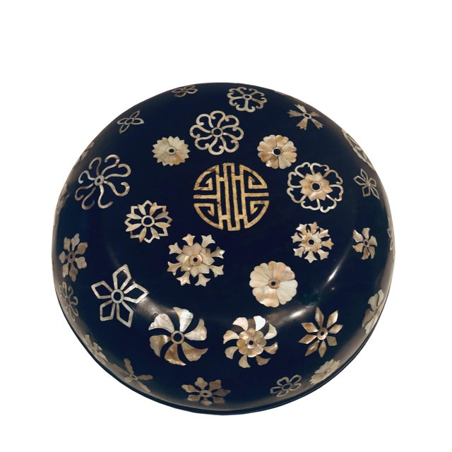 Paint 19th Century Lacquer Korean Mother of Pearl Inlay Box For Sale - Image 7 of 7