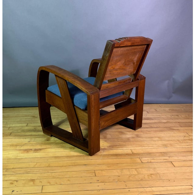 Wood 1930s Solid Teak Veranda Chair, Danish Colonial Indonesia For Sale - Image 7 of 11