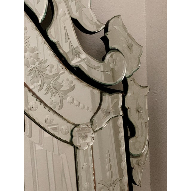 Boho Chic Vintage Venetian Tall Mirror For Sale - Image 3 of 12