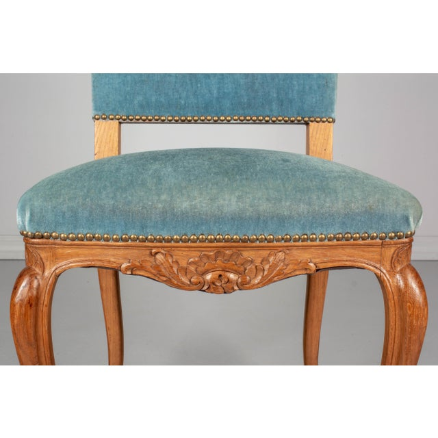 Aqua French Louis XV Style Dining Chairs - Set of Six For Sale - Image 8 of 10
