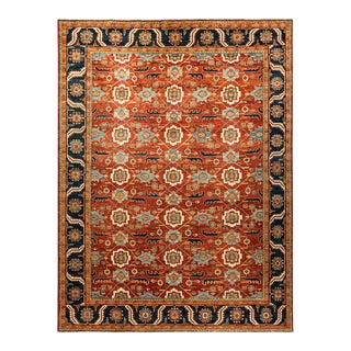 One-Of-A-Kind Oriental Serapi Hand-Knotted Area Rug, Crimson, 8' 8 X 11' 8 For Sale