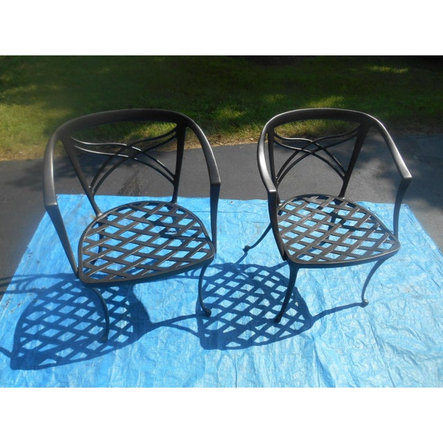 """Gold 1960's Mid-Century Modern Brown Jordan """"Classic II"""" Patio Set - 5 Pieces For Sale - Image 8 of 12"""