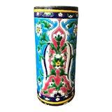 Image of Jules Vieillard Bordeaux Enameled Glazed Cylindrical Ceramic Vase For Sale