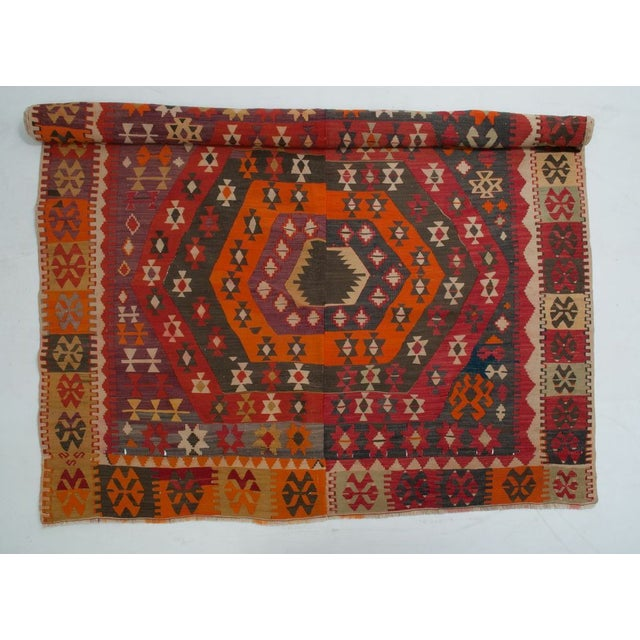 Just Reduced! Free local pick up at our San Francisco warehouse location. This hand made Kilim is brought to us by...