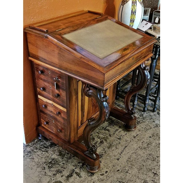 Early 19c British Davenport Desk in the Manner of Gillows For Sale - Image 13 of 13