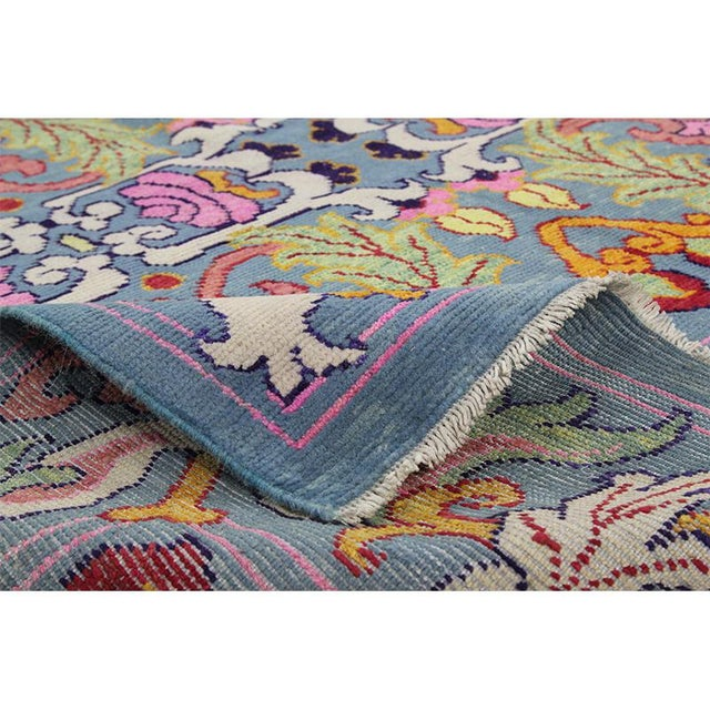 1990s Vintage Handwoven Area Rug- 6′8″ × 9′7″ For Sale - Image 9 of 11