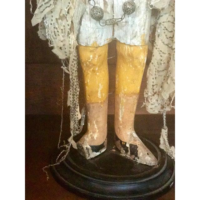 Wood Italian Santos Carved Wood Figure For Sale - Image 7 of 12