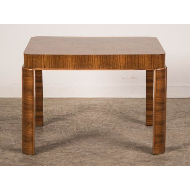 Timber Unique Art Deco Period Burl Walnut Square Table, Germany c. 1930 For Sale - Image 7 of 7
