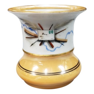 1930 Art Deco Lusterware Porcelain Matchstick Holder For Sale