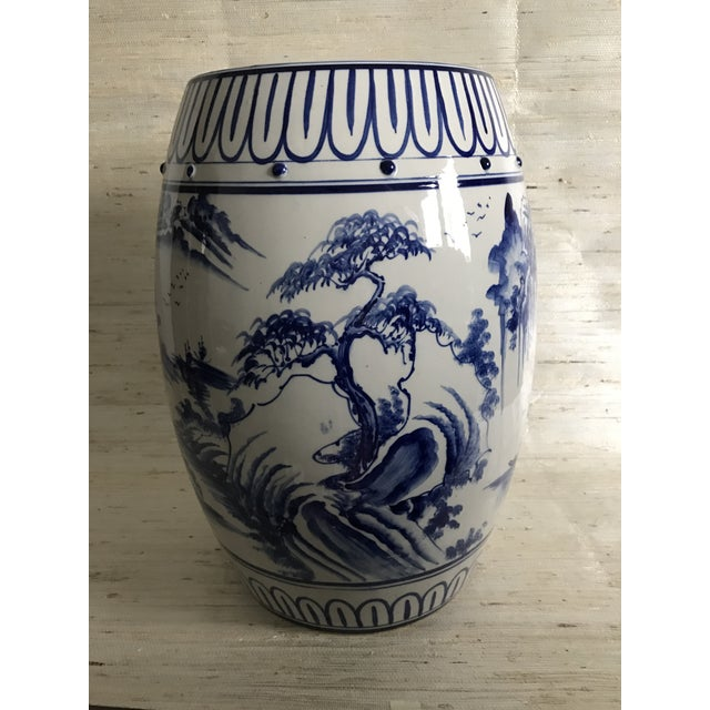 Antique Chinoiserie Ceramic Garden Stool - Image 2 of 6