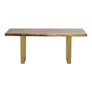 Organic Modern Live Edge White Oak Coffee Table For Sale