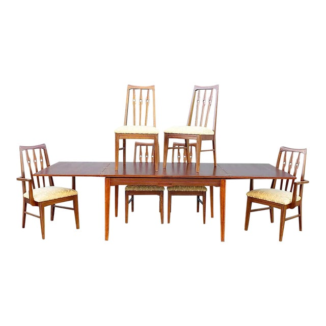 Mid Century Morriss Dining Set - 7 Pieces For Sale
