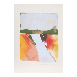 "John Chamberlain ""Flashback Vii"" Colorful Landscape Lithograph, 1981 For Sale"