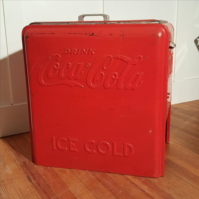 Vintage Coca Cola Ice Chest, Circa 1930's - Image 2 of 9