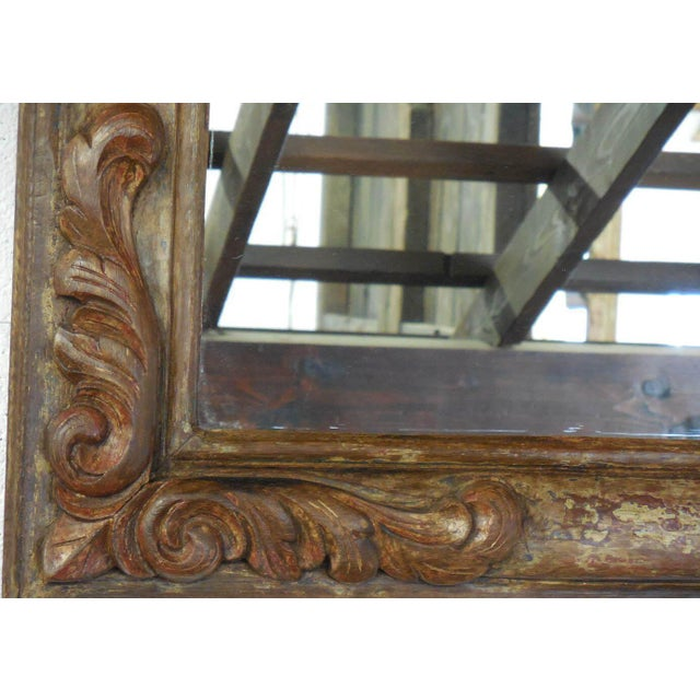 Hand-Carved Wooden Mirror - Image 6 of 6