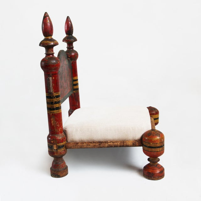 Vintage Painted Low Raja Chair - Image 2 of 4