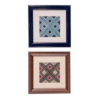 Turkish Petite Framed Needleworks - Set of 2 For Sale