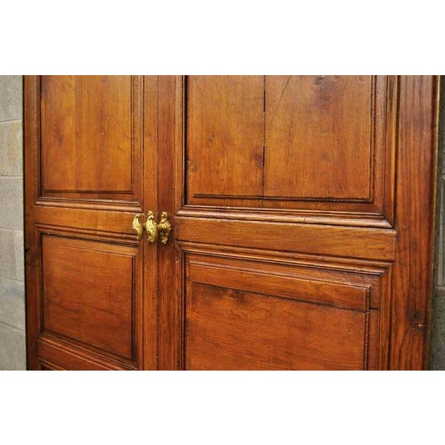 Metal 19th Century French Louis XVI Oak Interior Double Doors - Set of 2 For Sale - Image 7 of 13