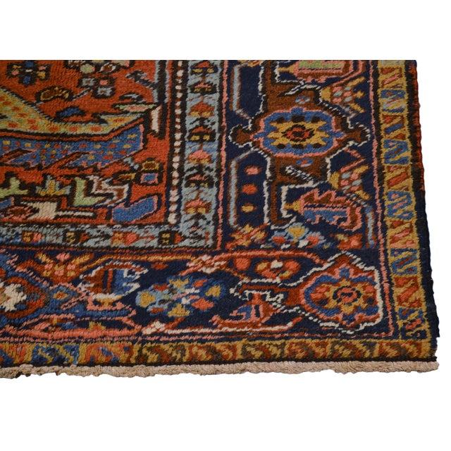 "Vintage Persian Heriz Rug - 7'x9'4"" For Sale In New York - Image 6 of 8"