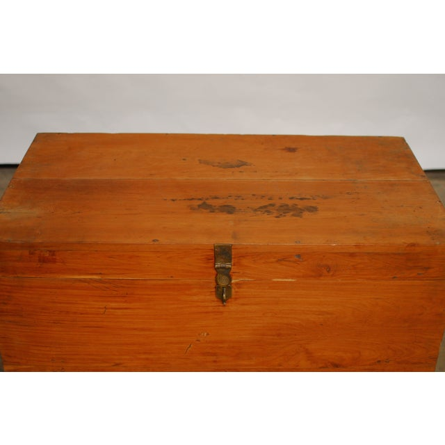 British Colonial Teak Travel Trunk/Chest - Image 3 of 9